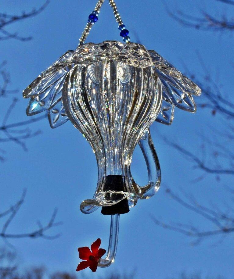 Hummingbird feeder Diy hummingbird feeder, Glass bird