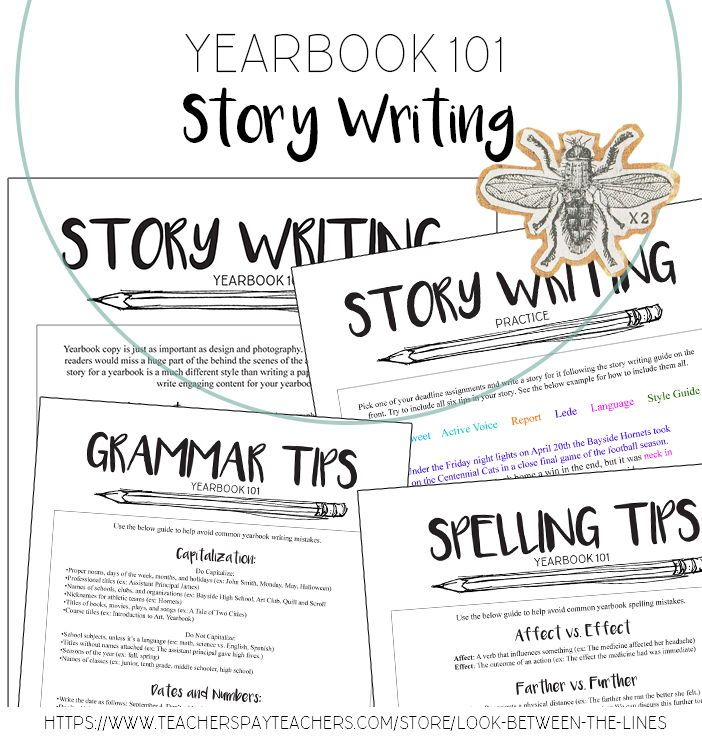 Yearbook Story Writing in a Journalistic Style & Grammar