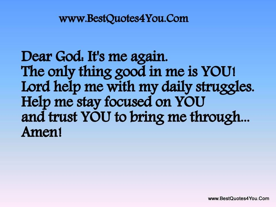 lord i need you quotes on YOU and trust YOU to bring