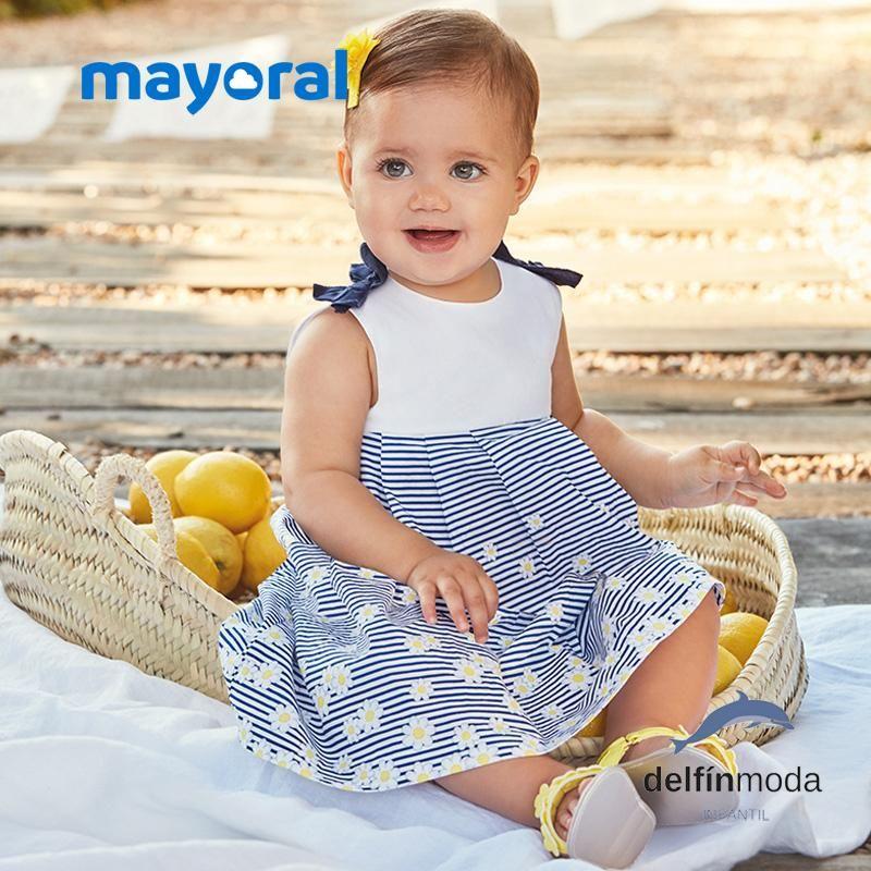 481370d57 Vestido de bebe niña MAYORAL newborn estampado margaritas