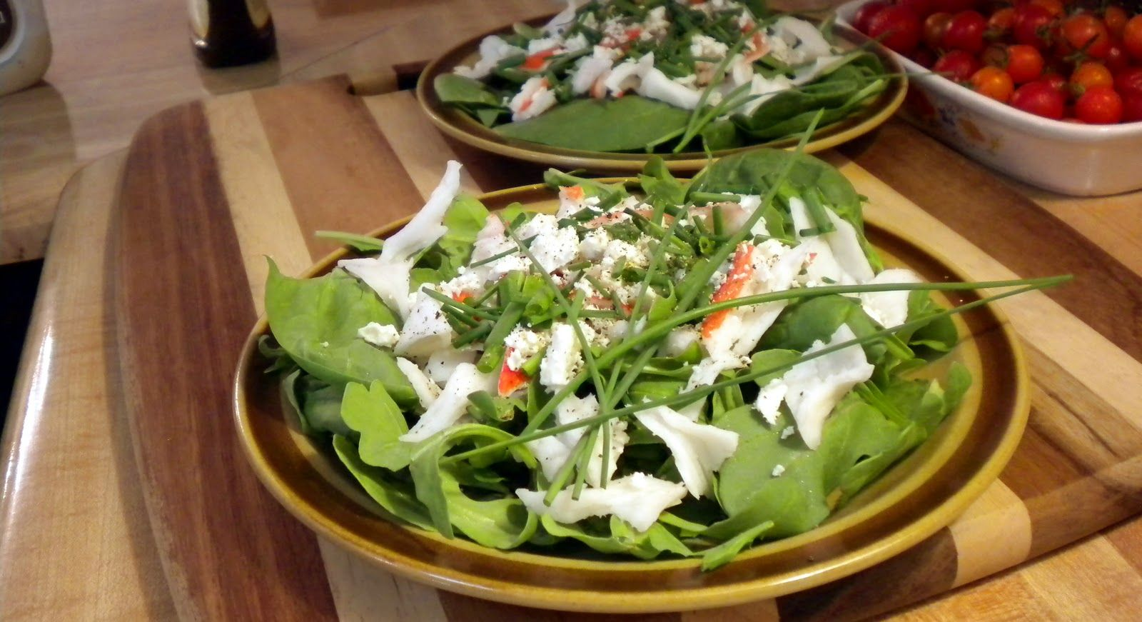 Crab Salad In Little White Dipping Bowls
