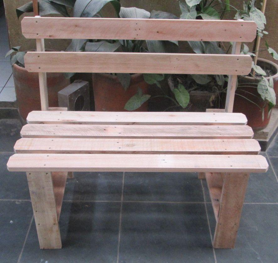 Banco De Madeira Pallet Reciclado Com Encosto Muebles De Madera