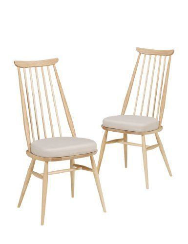 2 Ercol Turville Dining Chairs With Cushion