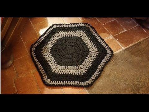 Tappeto Alluncinetto Rettangolare : Tutorial tappeto all uncinetto facilissimo alfombra crochet