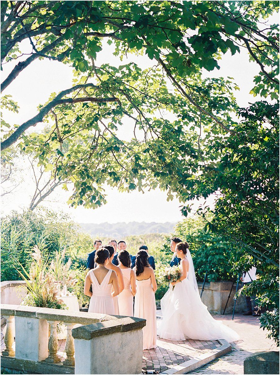 Fall outdoor wedding dresses  Outdoor Ceremony with Trees Eolia Mansion Wedding at Harkness by