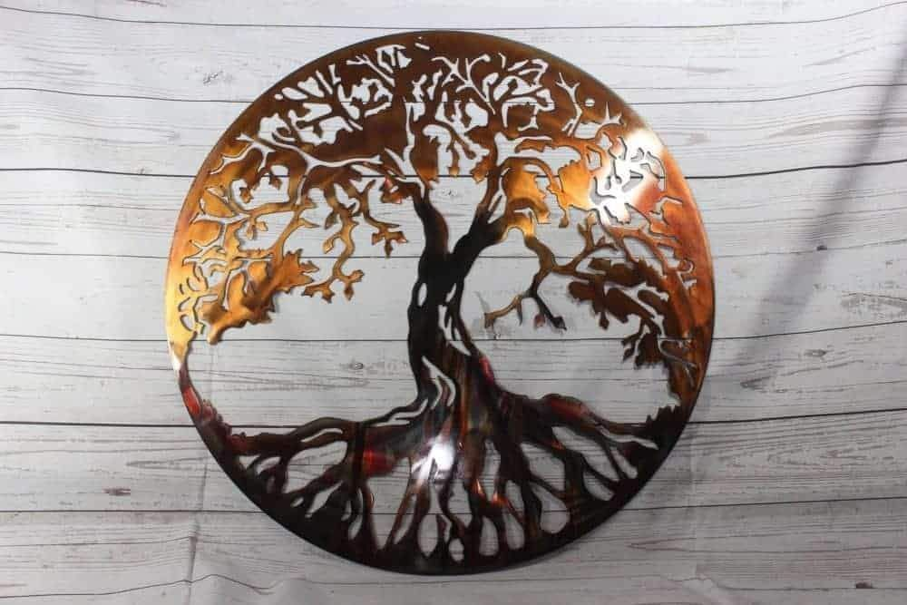 Tree Of Life Metal Wall Art Plasma Metal Art Metal