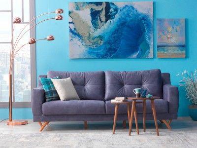 Casa Padrino Designer 3er Sofa Hamburg Taupe-Grau - Hotel Möbel