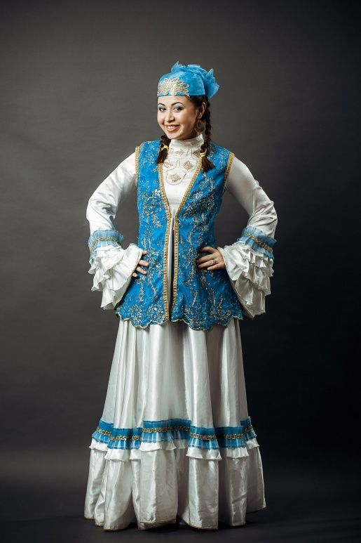 846bf4337316022 Татарское женское нац. платье.Tatar lady in traditional co… | Tatars ...