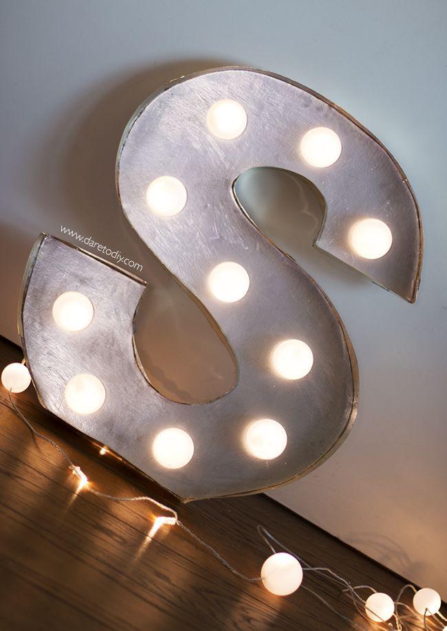 C mo hacer letras con luces f cil formas luminosas para - Letras luminosas decoracion ...