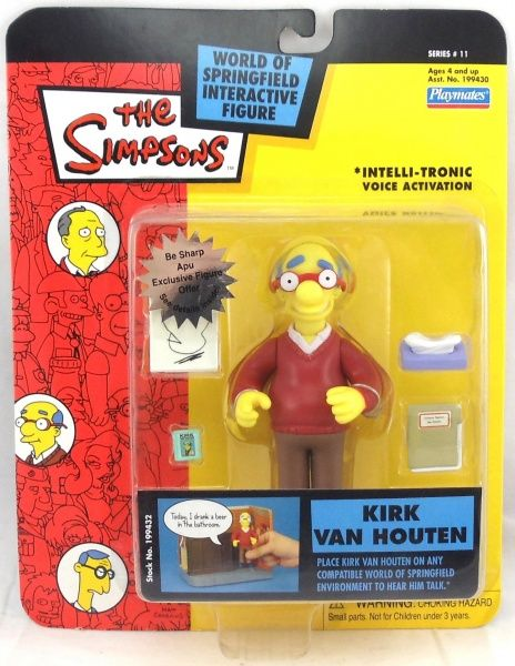 Simpsons Chief Wiggum Action Figure World of Springfield MOC Series 2 RARE Toy !