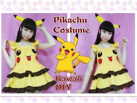 32103ec80c Kawaii DIY - Pikachu Costume Part 2 - Pikachu Dress Costume (Easy) - YouTube
