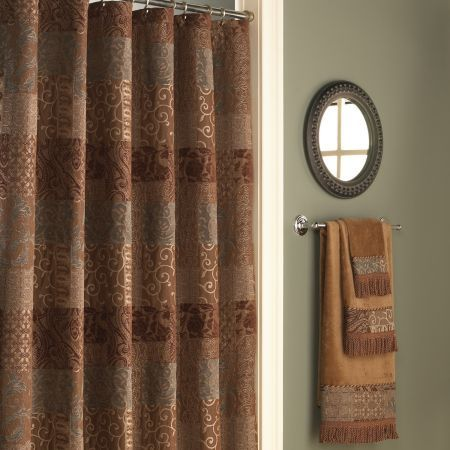 Croscill Galleria Chocolate Shower Curtain