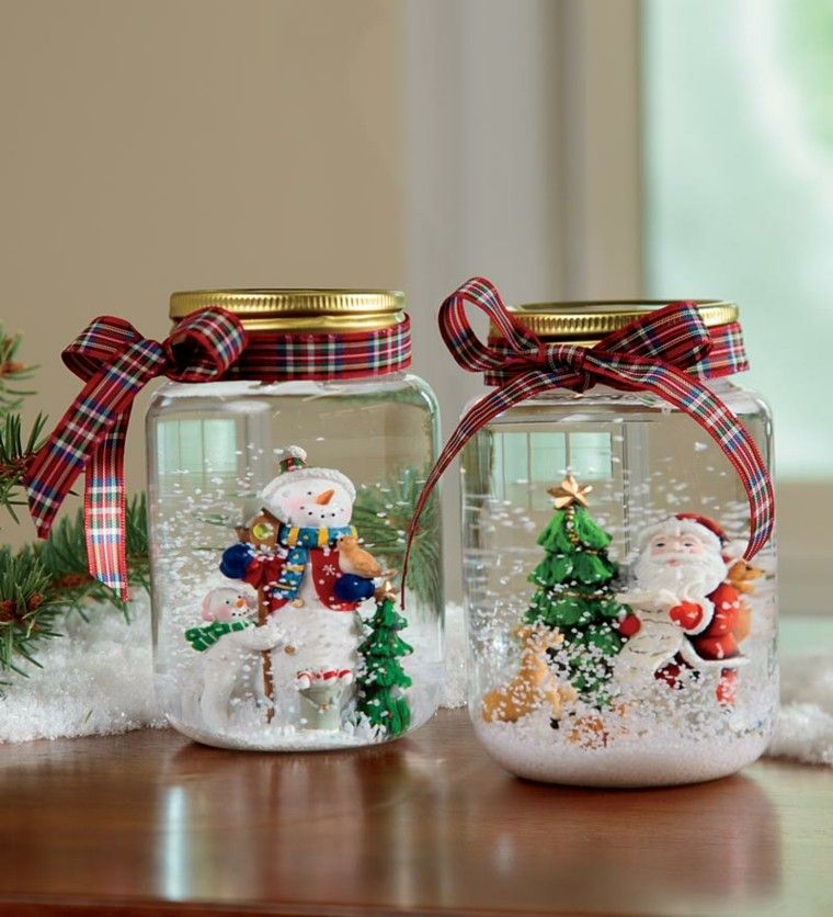 Adornos navideos ideas sencillas para hacer en casa Craft Jar