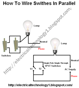 [FPWZ_2684]  How To Wire Switches in Parallel? | Wire switch, Parallel wiring, Switches | Ac Parallel Wiring Light |  | Pinterest