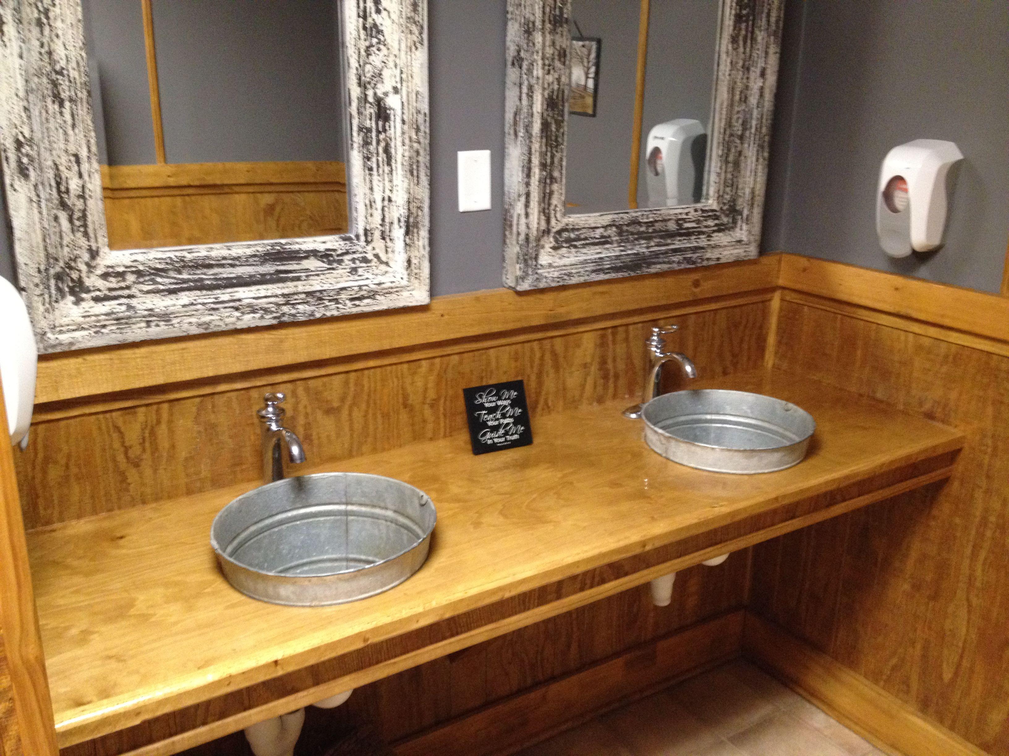 Bucket sink  House Stuff  Galvanized tub Bathroom sink
