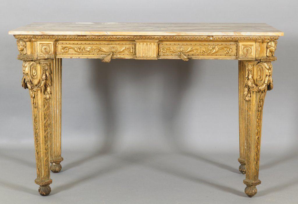 Consolle Luigi XVI in legno finemente intagliato on | console ...