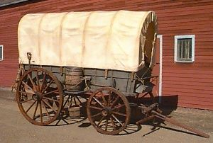 Covered Wagons custom built by Hansen Wheel Wagon Shop