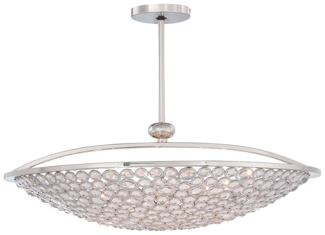 View the Metropolitan N6758-613 10 Light Bowl Shaped Pendant from the Magique Collection at LightingDirect.com.