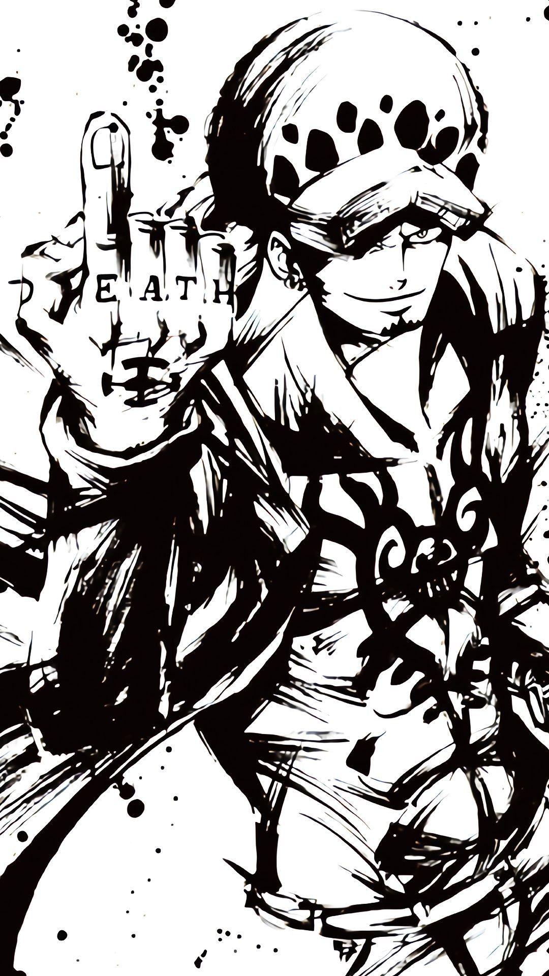 Iphone X Xr Xs 6 7 8 Plus Flexible Slim Tpu Protector Cover Pirate Trafalgar Law One Piece Wallpaper Iphone One Piece Drawing One Piece Tattoos