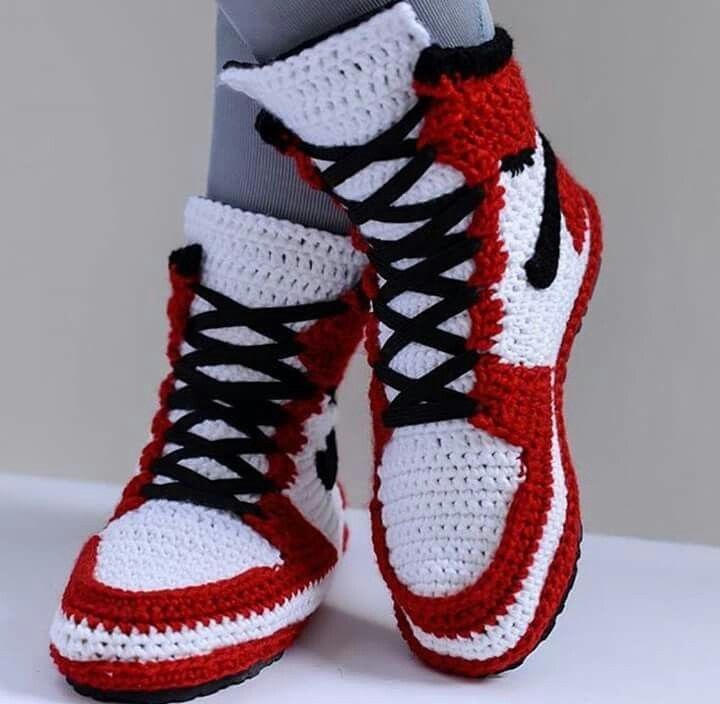 453a115cc249f1 Kids Slippers Toddler Footwear House Crocheted slippers Nike Air jordan  Knitted shoes Slippers Kids Slippers Air Jordan Toddle…
