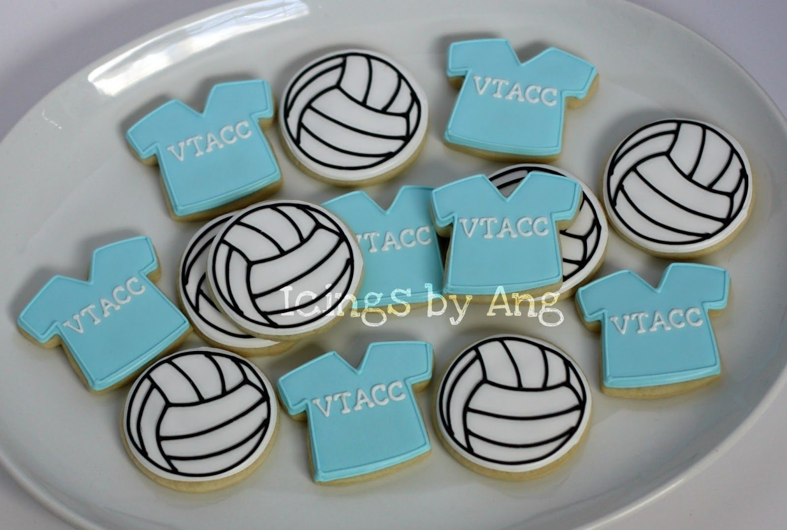 Icings By Ang Sports Cookies Volleyball Birthday Cakes Volleyball Cookies Pretty Cookies