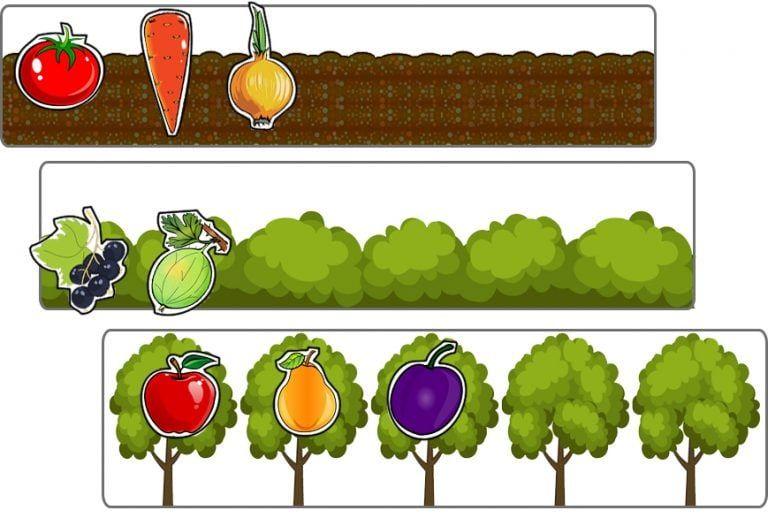 Овощи и фрукты. 3 сортировки   Обучающие игры для ...