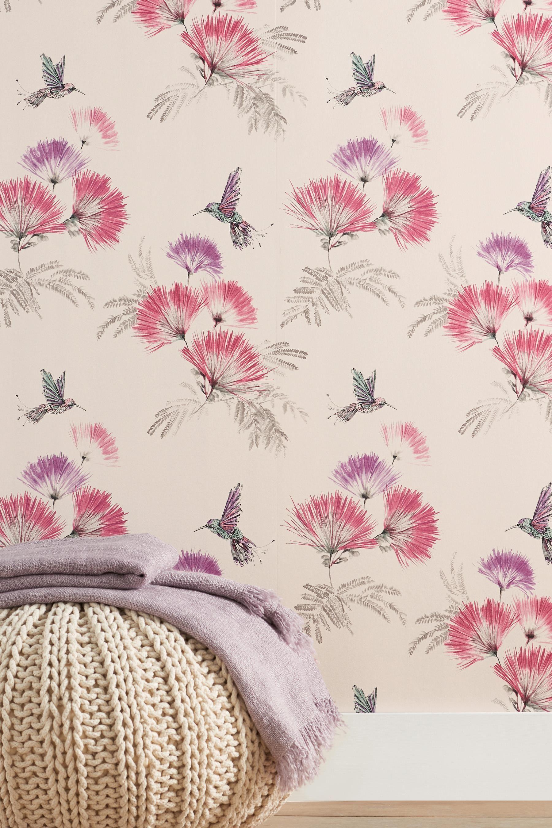 Buy Hummingbird Wallpaper from the Next UK online shop   wallpaper   Hummingbird wallpaper, Red ...