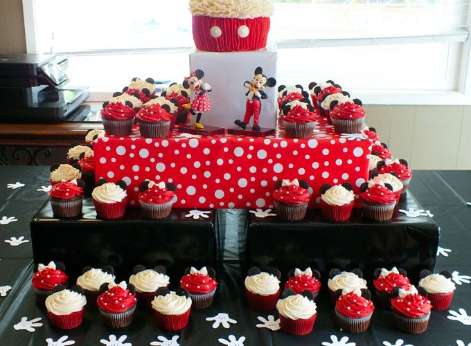 Mickey Mouse Cupcake Stand Mickey mouse cupcakes Cupcake stands