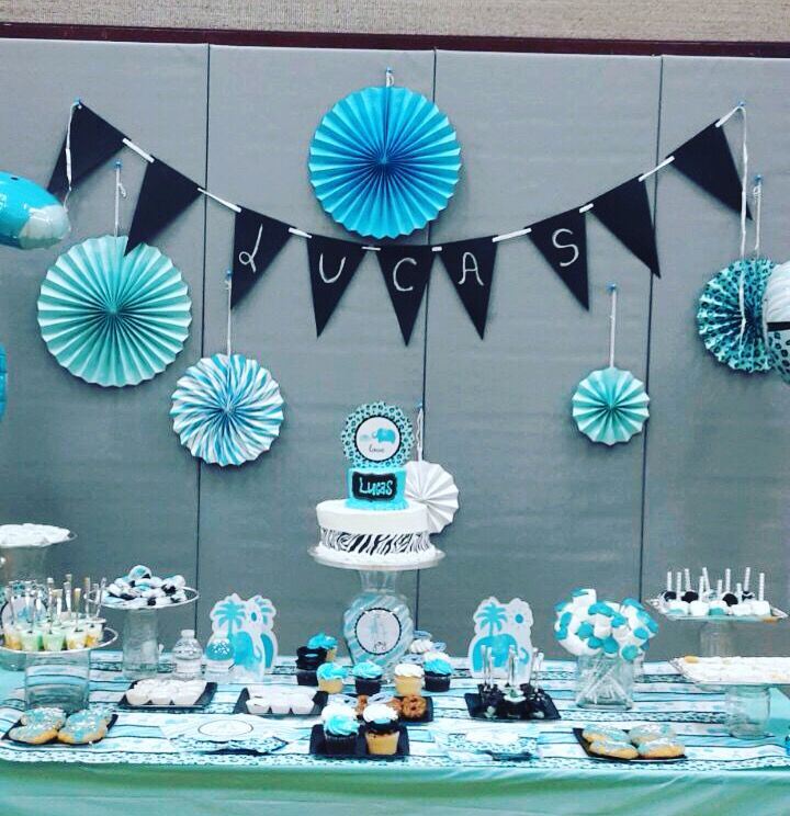Babyshower ni o mesa decorada fiestas infantiles for Mesa baby shower nino