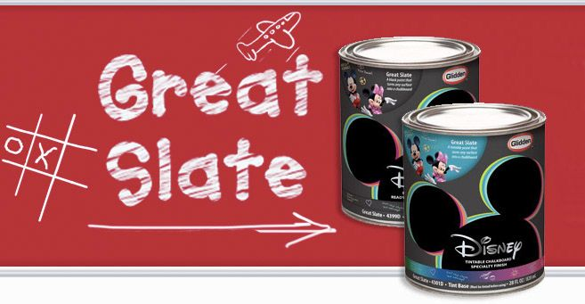Great Slate chalkboard paint finish Disney
