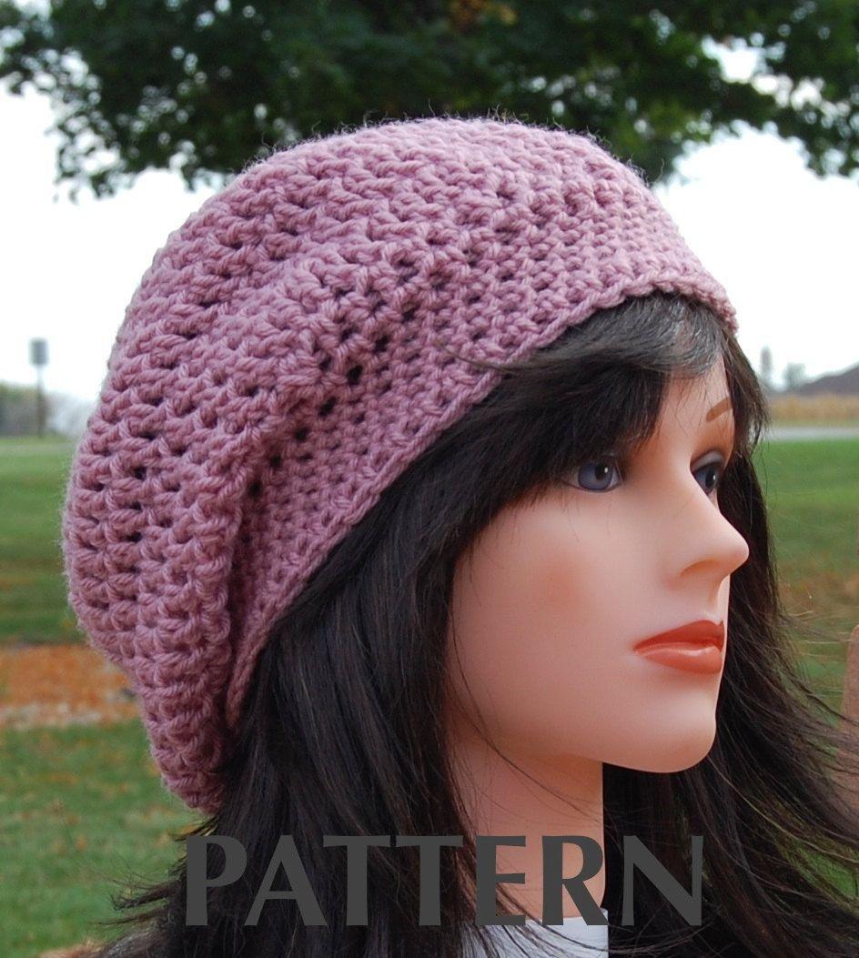 easy slouchy hat crochet pattern | Crochet Slouchy Hat Pattern For Beginners #1