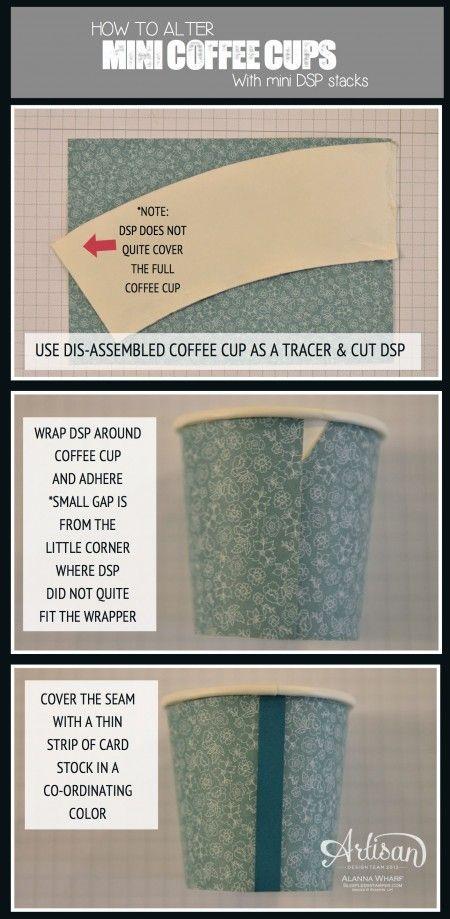 Artisan Wednesday Wow ~ Mini Coffee Cups   SleeplessStamper.com