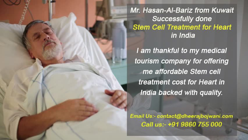 Stem cell treatment for Heart in India for a patient from