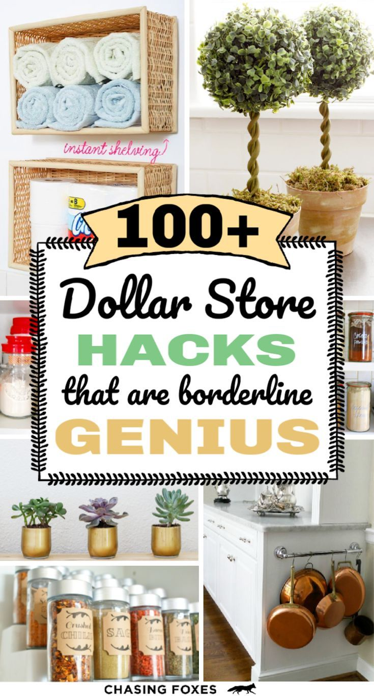 100+ Dollar Store Hacks That Are SO Clever - Chasing Foxes