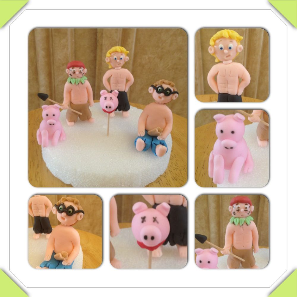 lord of the flies jack lord of the flies lord the lord of the flies fondant figures jack ralph piggy pig pig
