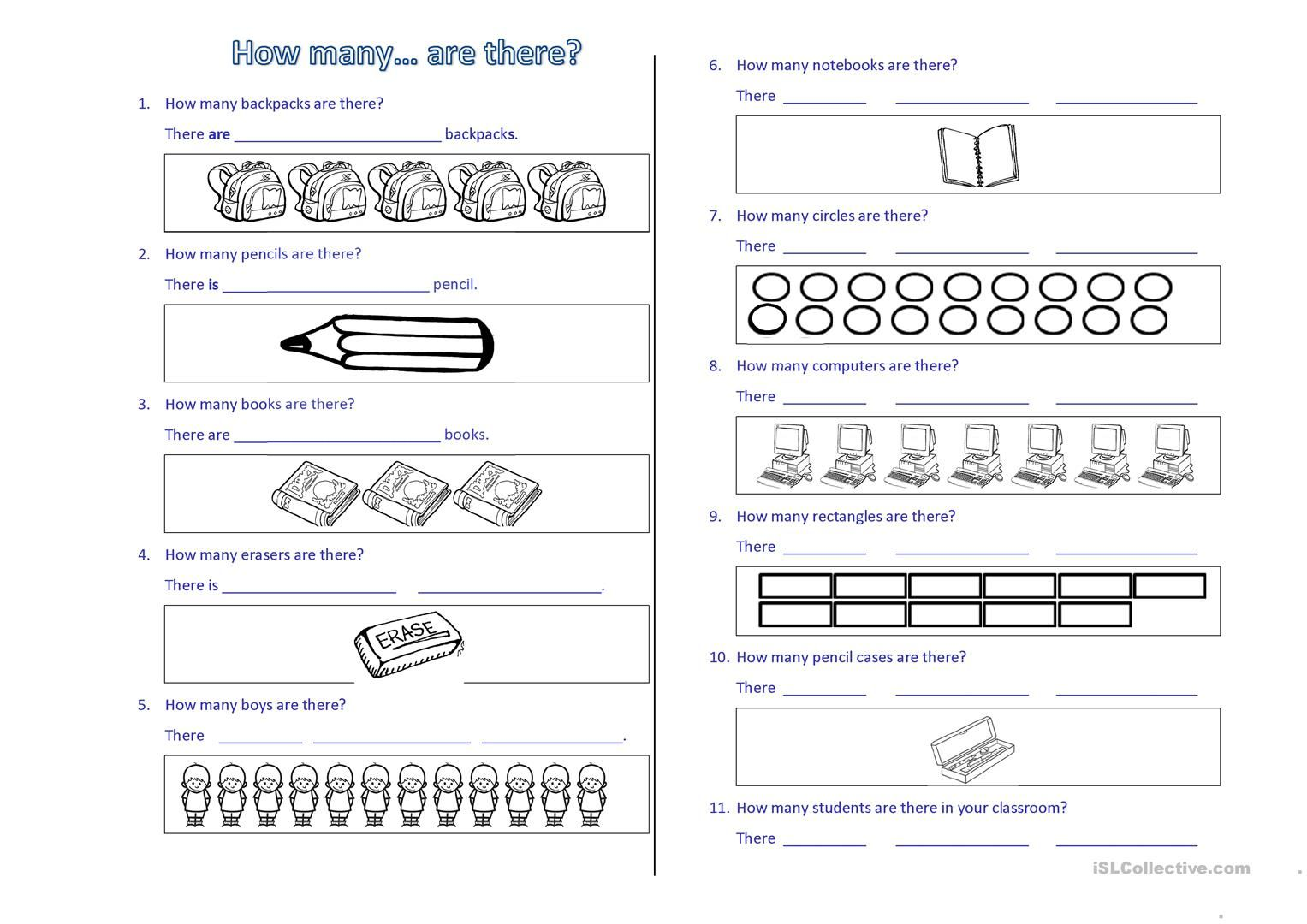 How Many Are There Worksheet Con Imagenes