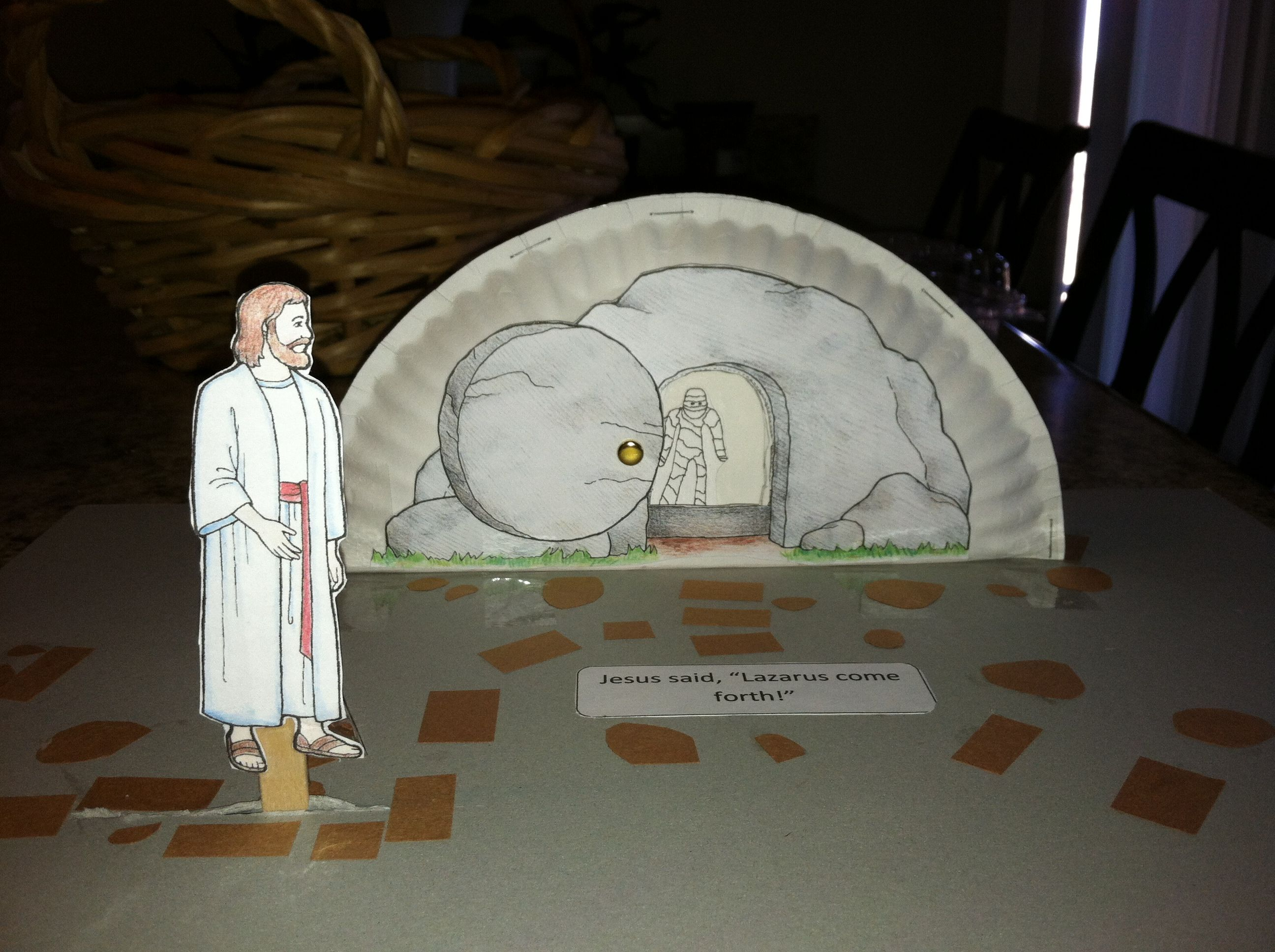 Lazarus come forth paper plate craft  Gospels  Pinterest  Paper