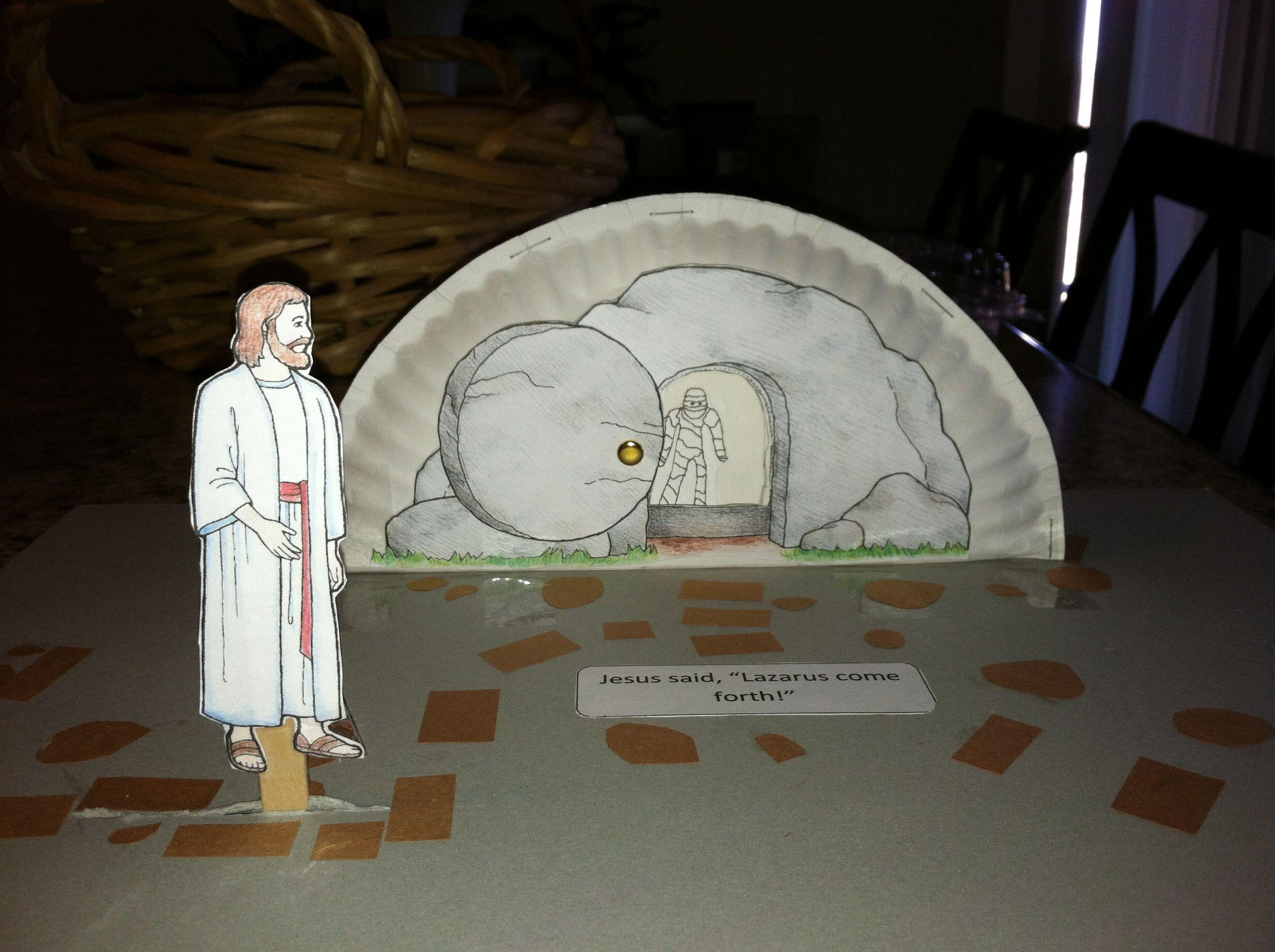 Lazarus Come Forth Paper Plate Craft