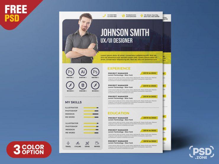Creative Resume Template PSD | Creative resume templates ...