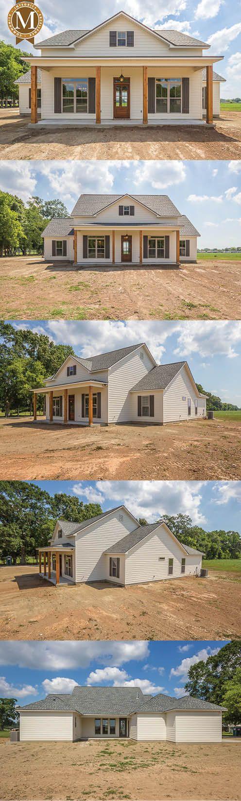 Sterling Farmhouse - Living Sq Ft: 2,206 Bedrooms: 3 or 4 Baths: 2 Lafayette Lake Charles Baton Rouge Louisiana #barndominiumideas