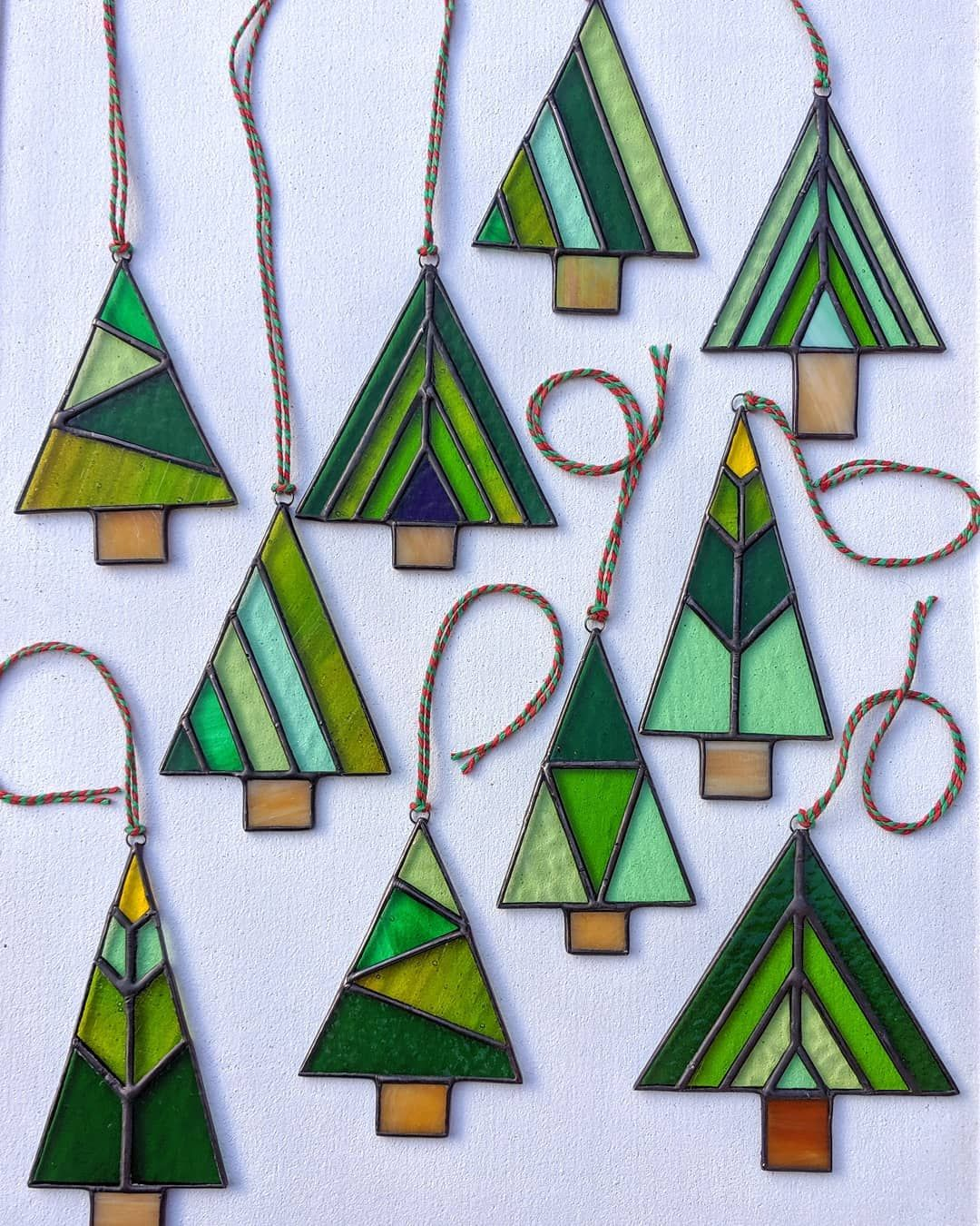 Martin On Instagram A Forest Of New Stained Glass Christmas Tree Designs Made And Now Availabl Stained Glass Christmas Stained Glass Diy Stained Glass Crafts