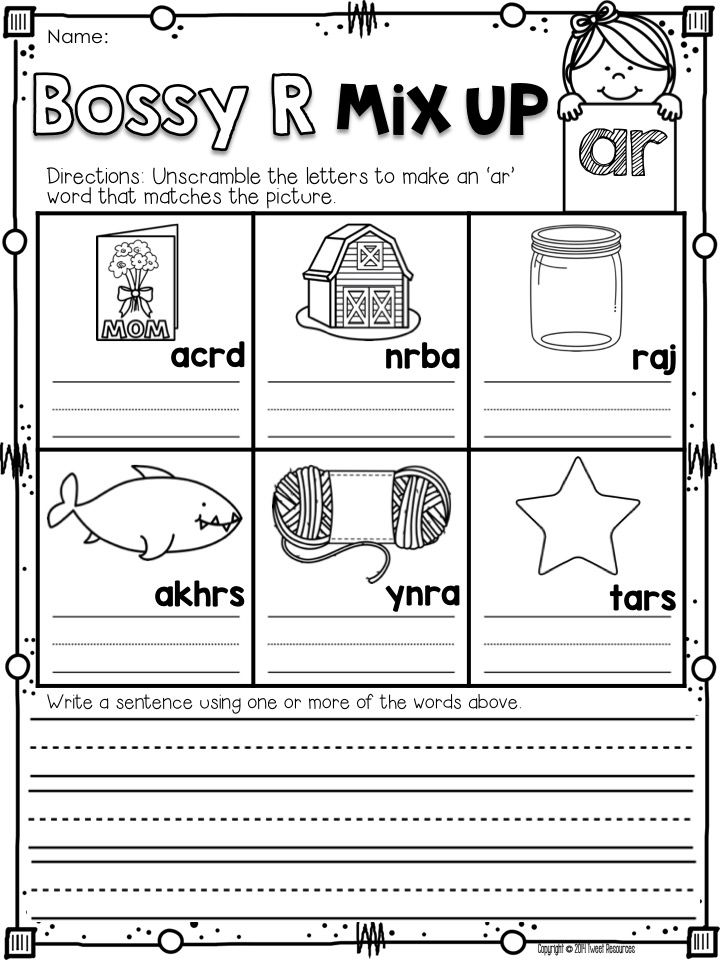 Bossy R Freebie:) 5 free Bossy R (R Controlled Vowels) for phonics ...