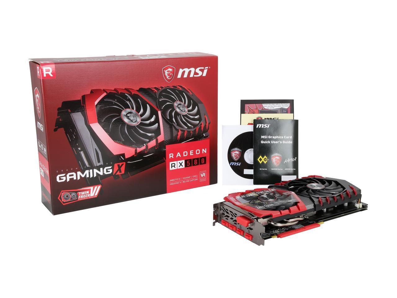 MSI Radeon RX 580 DirectX 12 RX 580 GAMING X 8G 8GB 256-Bit GDDR5