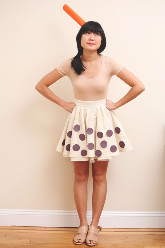 Easy DIY #Halloween Costume from your Closet (Using a Beige Skirt ...