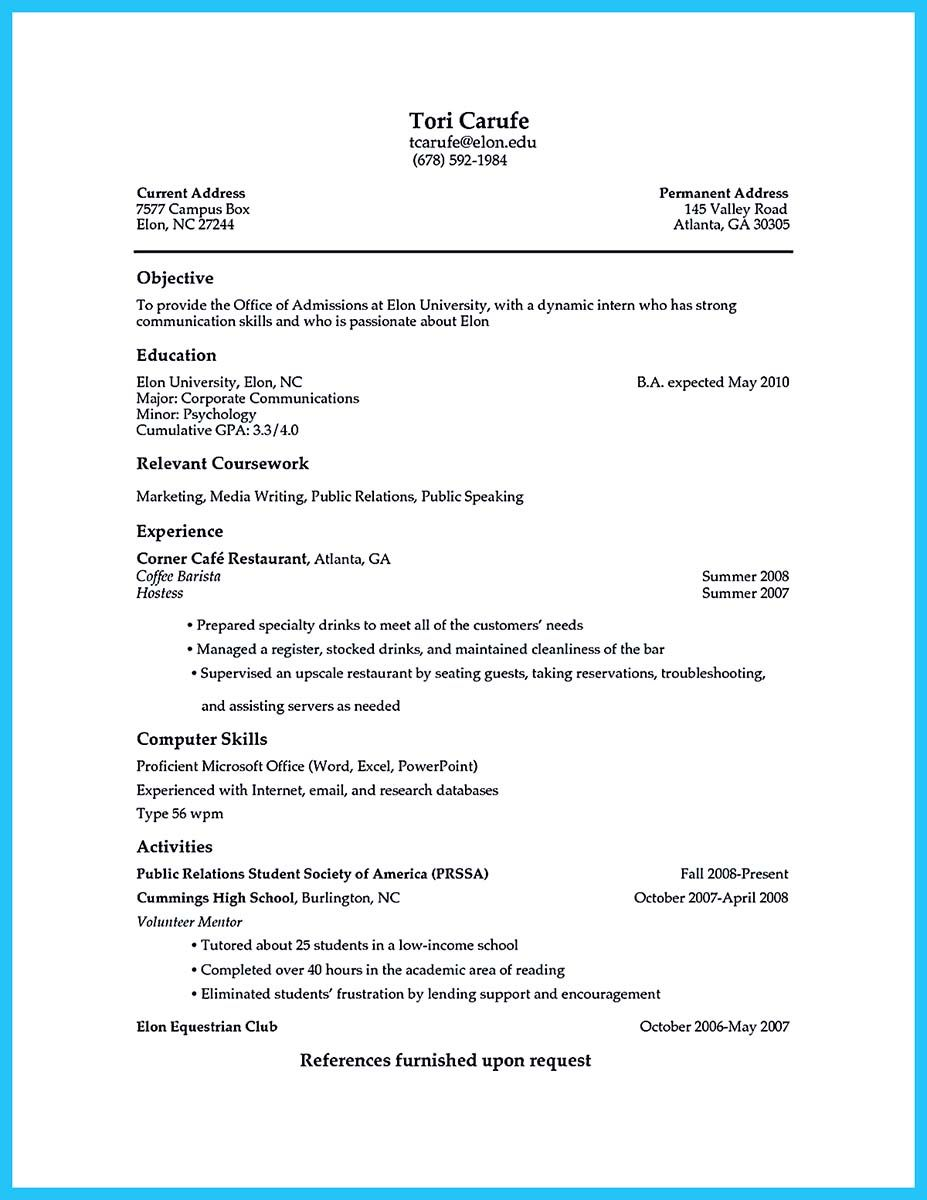 Nice Example Resume For Job And Free Maker Cover Letter Sample Experience  Resignation You Best Examples College Studentsresume Within Barista Resume Example