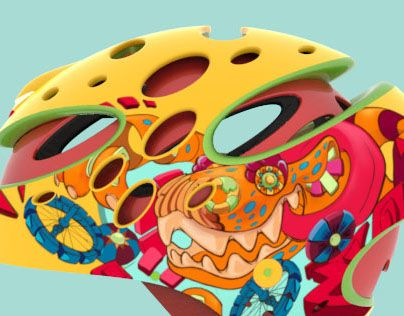 I wanted to create a helmet for children inspired by their energy and vibrance. The helmet is meant to be fun and also explore different relatively simple ways to keep children safer.