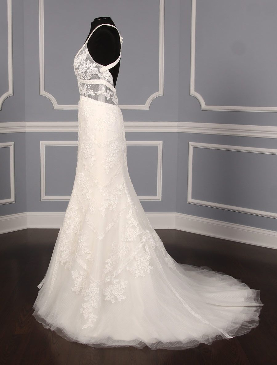 Anne barge calliandra wedding dress blue willow bride fit u flare