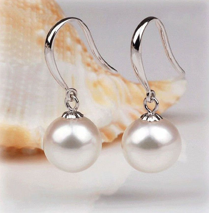 925 Silver Plated Pearl Drop Dangle Earrings  Truly Stunning Ladies Gift