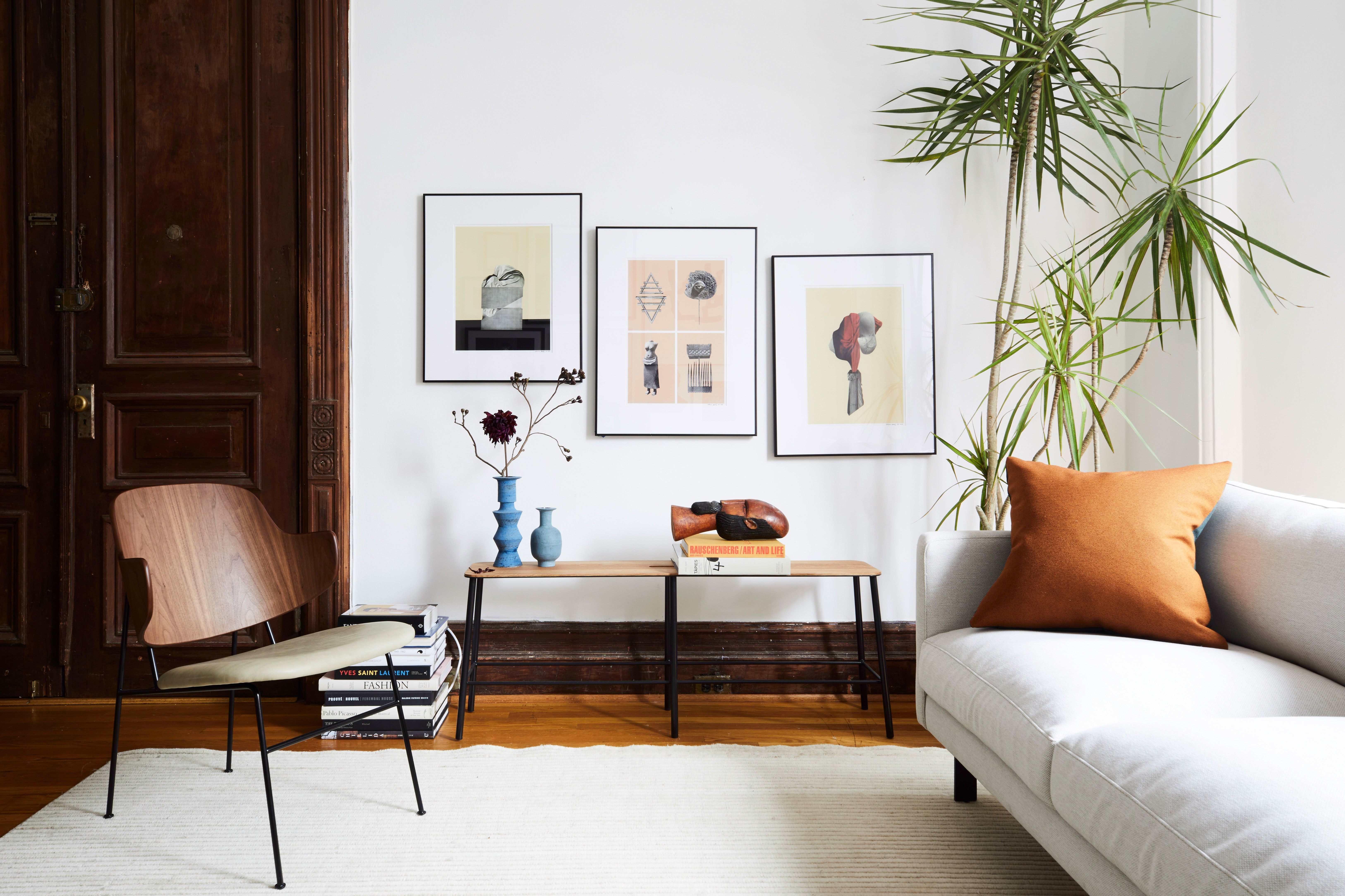 An Architectural Brooklyn Living Room with a Modern ...