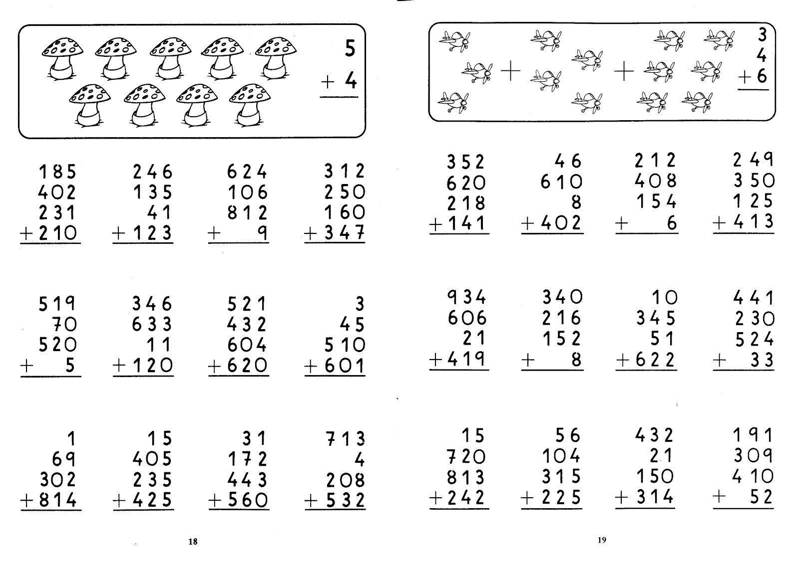 Famosos 26 fichas matemáticas de 1º ao 3º ano | Math UU25